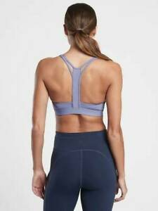 NEW ATHLETA DUSK PURPLE A-C ULTIMATE RACER  SPORTS BRA SMALL
