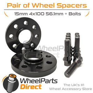 Wheel Spacers (2) & Bolts 15mm for Mini Hatch [R56] 06-14 On Original Wheels