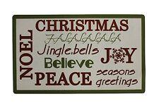 "Christmas Holiday Greeting JOY NOEL PEACE Door Mat 28"" x 17"""