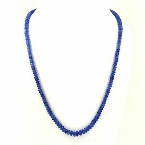 NATURAL BLUE TANZANITE GEMSTONE ROUND PLAIN BEADS 1 STRAND NECKLACE 150 CTS.