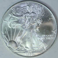 1998 American Silver Eagle - One Troy Ounce .999 Pure - UNC a50