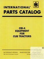 International Farmall CUB LO-BOY 154 184 185 284 Equipment Parts Catalog Manual