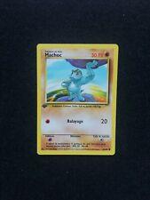 Carte Pokémon Machoc 52/102 Set de Base Édition 1 Wizards FR Comme neuf