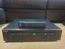 SONY RCD-W100 dual CD Player / CD Recorder twin deck & remote - BLACK