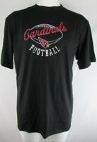 Arizona Cardinals NFL Team Apparel Men's Black Short Sleeve Crew Neck T-Shirt