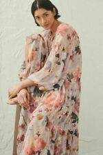 H&M Beautiful Pink Chiffon Floral Dress Size L (16/18) *BNWT* SOLD OUT Bloggers