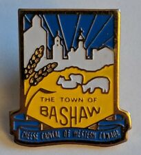 The Town of Bashaw Alberta Lapel Pin Cheese Capital of Western Canada Souvenir