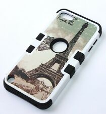 For iPod Touch 5th / 6th Gen - HARD & SOFT RUBBER HYBRID CASE PARIS EIFFEL TOWER
