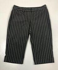 Express Editor Womens 4 Black Pinstripe Dress Bermuda Shorts