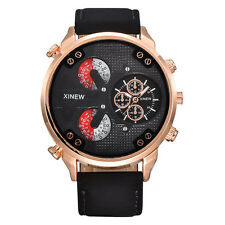 Luxury Men Automatic Mechanical Date Stainless Steel Leather Sport Wrist Watch