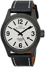 Glycine Incursore Automatic Black PVD Steel Mens Strap Swiss Watch 3874.91 LB9B