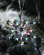 SWAROVSKI 2004 snowflake ornament AB POLAR COATING, CUSTOMIZED for mega tree !