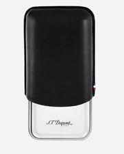 S.T. Dupont Triple Cigar Case - Metal & Leather - 183020 - Black ST