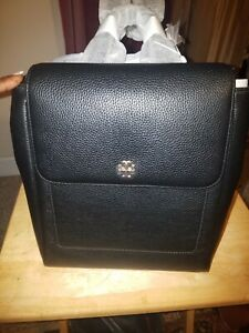 Tory Burch Carter Pebble Leather Backpack Black Rt @ 498