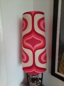 40cm Funky West German  Lampshade fat lava lamp 70s 60s retro vintage pink red