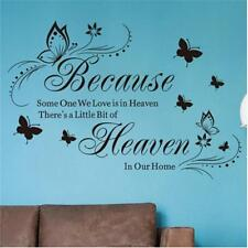 Wall Stickers Quotes Because someone we love is in heaven Art Decor HY