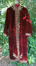 Red Royal King Beaded Robe Coat Jacket Renaissance Mens Costume w/ Gold Trim M