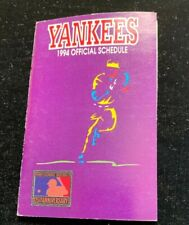 New York Yankees 1994 Pocket Calendar Schedule Modells