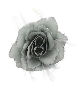 LARGE ROSE FLOWER HAIR CLIP WOMENS FLOWER HAIRBAND WEDDING BRIDESMAID LADIES UK