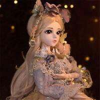 60cm BJD Puppe 1/3 Gesicht Make-Up Doll Mädchen mit Puppenkleid Neujahr Geschenk
