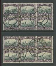 SOUTH AFRICA 1931-34 2d BLOCKS INV + UPRIGHT WMK BENONI