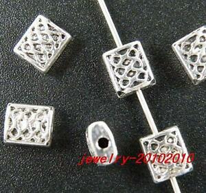 140pcs Tibetan Silver Square Spacers 7x6x3mm 5039