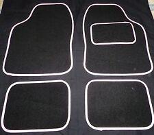 BLACK AND WHITE Trim Tappetini Auto per Suzuki Alto SX4 JIMNY IGNIS SWIFT LIANA SPLASH