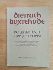 Noten. Buxtehude. Du Lebensfürst, Herr Jesu Christ. Partitur.