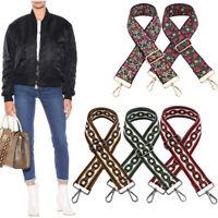 Retro Crossbody Shoulder Bag Strap Belt Replacement Pouch Handbag Purse Wallet
