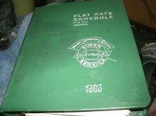 1968 CHEVROLET TRUCKS FLAT RATE TIME LABOR SCHEDULE DEALER ALBUM RARE ORIGINAL