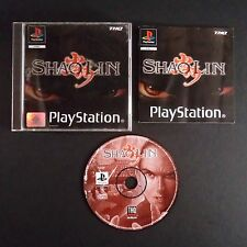 SHAOLIN PlayStation PAL UK・♔・FIGHTING BEAT EM UP complete THQ PS1 PS2 KUNG FU