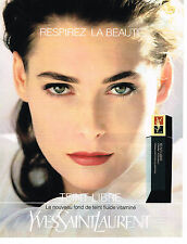 PUBLICITE ADVERTISING 064  1991  YVES SAINT LAURENT  cosmétiques  TEINT LIBRE