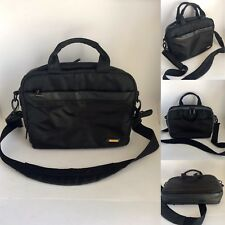 TARGUS Small Black Canvas iPad Laptop Bag Briefcase Shoulder or Hand Carry