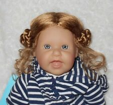 Mini World GRETCHEN Doll Wig SIZE 12/13 Strawberry Blonde~Synthetic Mohair