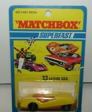 Matchbox Superfast No 33 Datsun 126X Yellow, Ribbed Base MIB