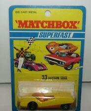 Matchbox Superfast No 33 Datsun 126X Yellow, Ribbed Base MIB