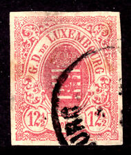 LUXEMBOURG #8 12½c ROSE, 1859 IMPERF, VF, CDS