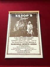 Zz Top 1975 Colorado Concert Poster Commander Cody Lost Planet Air Zz Top Poster