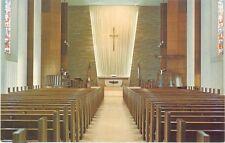 Vintage Florida Chrome Postcard Coral Gables Sanctuary First Presbyterian Church
