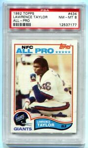 1982 Topps Lawrence Taylor RC #434 PSA 8 NM-MT HOF GIANTS