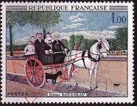 """FRANCE STAMP TIMBRE N° 1517 """" DOUANIER ROUSSEAU VARIETE DE COULEUR"""" NEUF xx LUXE"""