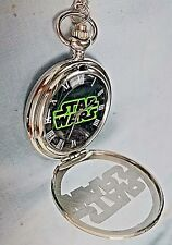 Star Wars Silver Pocket Watch Antique Vintage Mens Old Film Half Hunter Disney