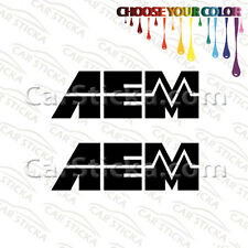 "2 x 8"" AEM /B car racing window vinyl sticker decal"