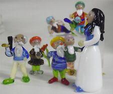 Schneewittchen und die 7 Zwerge Grimm Glasfiguren Made in Germany Märchenfiguren