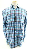 Peter Millar NWT Men's Dress Shirt Summer Comfort Stretch Size Large Blue Red