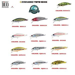 "DUO ""TETRA WORKS TOTO 48HS"" Sinking Hard Lures Spinning Lrf Light Fishing Japan"