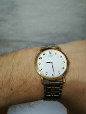 Vintage orologio SEIKO quartz base metal steel back acciaio oro watch