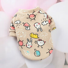 Rabbits Chickens Teddy Bear Cute Print Small Dog Hoodie Coat Winter Pet Clothes
