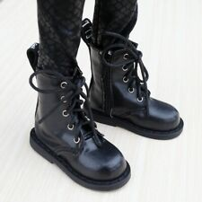 "Black Short  Boots SHoes For Unisex 1/4 17"" BJD MSD AOD AS Volks DOLL G&D"