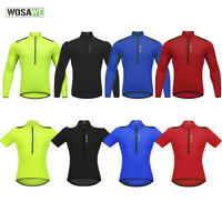 Mens  Cycling Jersey Long Sleeve Short Sleeve Breathable Bike Wear Shirt Tops